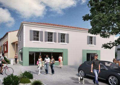 Construction d'un bâtiment à usage commercial et d'habitat